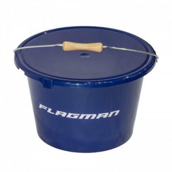 FLAGMAN Ведро с крышкой 18л синее