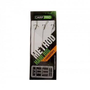 Готовый поводок с крючком Carp Pro Method Hair Rig Hooklink 10lb №12