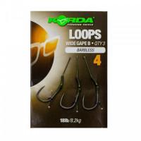 Поводок готовый Korda Loop Rigs DF Wide Gape Barbless №4 18lb безбородый