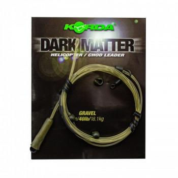 Готовый монтаж Korda Dark Matter Leader Heli Gravel 40lb