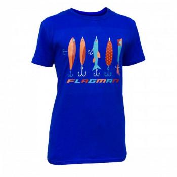 Футболка Flagman синяя XL