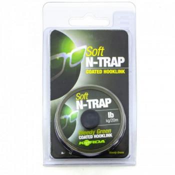 Поводковый материал Korda N-Trap Soft Weedy Green 20lb 20м