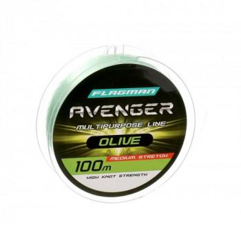 Леска Flagman Avenger Olive Line 100м 0,30мм