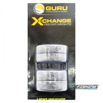 Сменный груз для кормушек Guru X-Change Distance Feeder Weights Light 20гр + 30гр