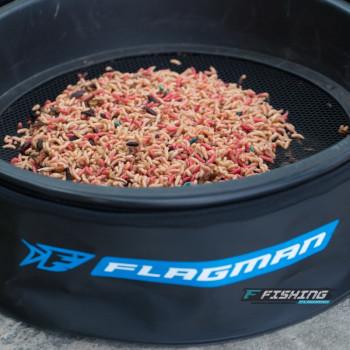 Сито Flagman для прикормки пластик (ячейка 3x3 мм) для ведра 25 л