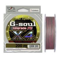 Плетеный шнур YGK G-Soul Upgrade PE х4, #1, 150 м, многоцветный