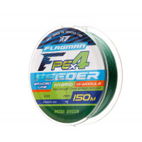 Шнур Flagman PE Hybrid F4 Feeder 150m Moss Green 0,14mm. Max 7,0kg