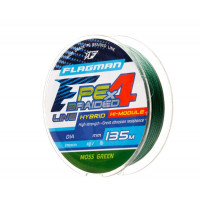 Шнур Flagman PE Hybrid F4 135m MossGreen 0,08mm. 3,6кг/8lb