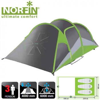 Палатка алюминиевые дуги 3-х местная Norfin SALMON 3 ALU NF