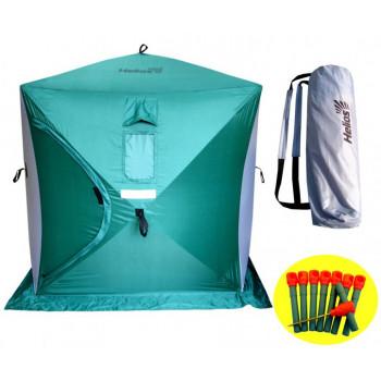 Палатка зимняя КУБ 1,5х1,5м (3зеленый/2серый) Helios