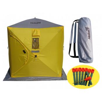 Палатка зимняя куб 1,5х1,5м (4желтый/1серый) Helios