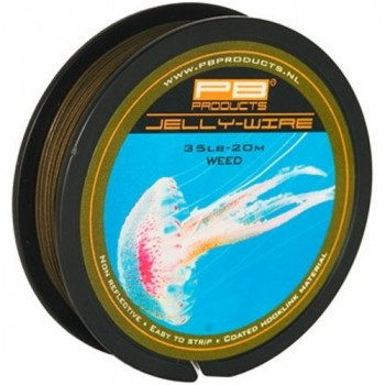 Поводковый материал PB Products JELLY WIRE / 35lb / 20m - Weed