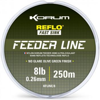 Леска KORUM FEEDER LINE MONO - 250m / 0,26mm / 3.62kg