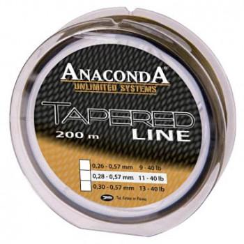 Леска конусная ANACONDA TAPERED Line - 0,26-0,57mm / 250m - Green/Black