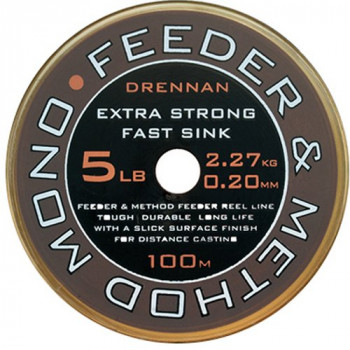 Леска DRENNAN FEEDER & METHOD Mono - 100m / 0.30mm / 5.45kg