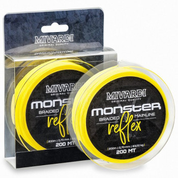 Леска плетеная MIVARDI MONSTER REFLEX Braid - 0.60mm / 72kg / 200m - Fluoro Yellow