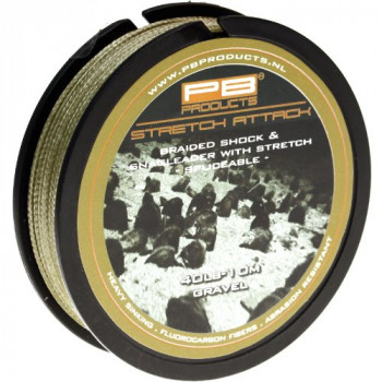Шок/Снаг-лидер плетеный PB Products STRETCH ATTACK / 40lb / 10m - Silt