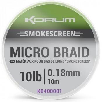 Поводковый материал KORUM SMOKESCREEN Micro Braid - 10m / 0.18mm / 10lb (4,5kg)
