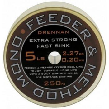 Леска DRENNAN FEEDER & METHOD Mono - 250m / 0.23mm / 2.72kg