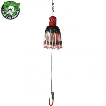 Блесны вертикальные MADCAT® A-STATIC ADJUSTABLE CLONK TEASER Jig Hook - 100g - RED