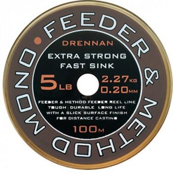Леска DRENNAN FEEDER & METHOD Mono - 100m / 0.18mm / 1.8kg