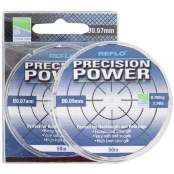Леска Preston Innovations REFLO® PRECISION POWER™ - 50m / 0.07mm / 0.500kg
