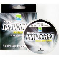 Шок-лидер конусный REFLO® BRAIDCAST Tapered Mono Leader 5x15m