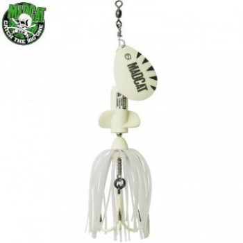 Блесна вращающаяся MADCAT® A-STATIC SCREAMING SPINNER Treble Hook - 65g - GLOW-IN-THE-DARK