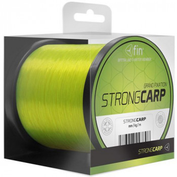 Леска карповая FIN STRONG CARP Fluo Yellow / 0,28mm / 14,3lb / 1200m