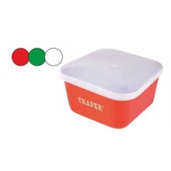 Контейнер для мотыля и опарыша 1.75 л. цвет - Красный ТРАПЕР
