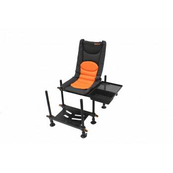 Кресло фидерное (раскладное) с педаной Argentum-Fishing
