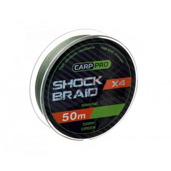 CARP PRO Шок-лидер Shock Braid PE X4 зеленый 20lb 25м