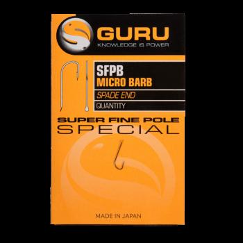 GURU Крючок Super Fine Pole №18 с бородкой