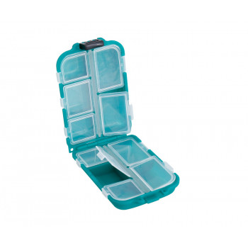 FLAGMAN Коробка для крючков 10 отделений двойная 95x60x28мм
