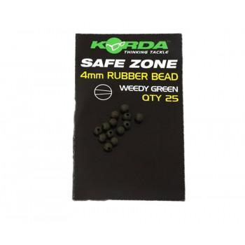 KORDA Бусина резиновая Rubber Bead Green 4мм