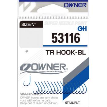 OWNER Крючок Tr Hook-BL blue №16 17шт