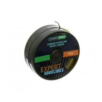 CARP PRO Поводковый материал без оболочки Sinking зеленый 15lb 10м