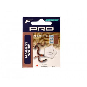 FLAGMAN Поводок готовый Pro Maggot Worm Hooks №12 7шт