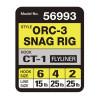 OWNER Оснастка готовая карповая ORC-3 Snag rig №6 15lb 19см 2шт