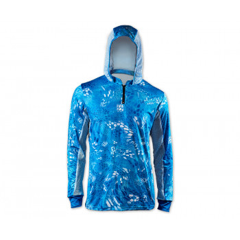 VEDUTA Худи Air серия UPF50+ Reptile Skin Blue Water S мужская