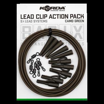 KORDA Набор для монтажа Basix Lead Clip Action Pack Camo green