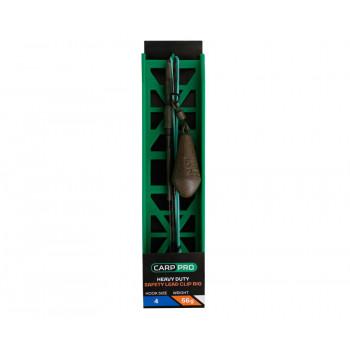CARP PRO Оснастка готовая на лидкоре HD Safety Lead Clip №4 56г
