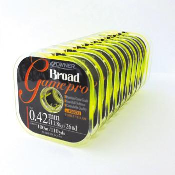 OWNER Леска Broad Game Pro yellow 100м 0,16мм 1,75кг