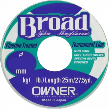 OWNER Леска Broad 25м 0,26мм 6,2кг