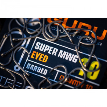 GURU Крючок Super MWG Eyed №10 с бородкой