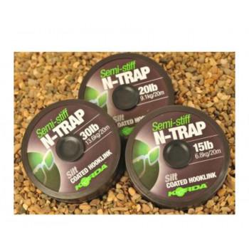 KORDA Поводковый материал N-Trap Semi-stiff 15lb Silt
