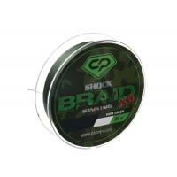 CARP PRO Шок-лидер Shock Braid PE X8 зеленый 25lb 25м