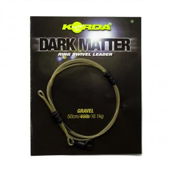 KORDA Готовый монтаж Dark Matter Leader №8 Ring Swivel 50см Gravel 40lb