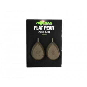 KORDA Грузило Flatliner Pear Inline 3,0oz 84г