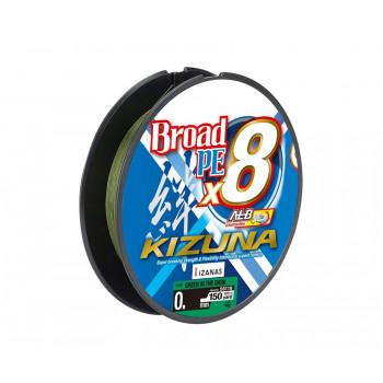 OWNER Шнур Kizuna X8 Broad PE green 135м 0,19мм 11,9кг